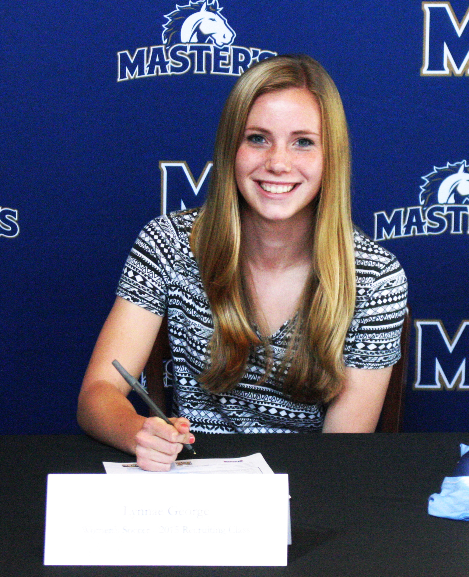 Lady Mustang Soccer Signs Lynnae George