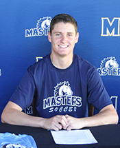 Men's Soccer Signs Mangan