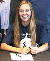 Lady Mustang Soccer Signs Robinson