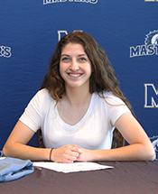 Lady Mustang Soccer Signs Peterson