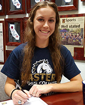 Lady Mustang Cross Country and Track Signs Bahr