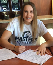Lady Mustang Basketball Signs Bailey