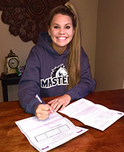 Lady Mustang Basketball Signs Drivstuen