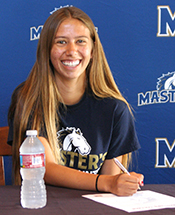 TMC Women's Cross Country and Track & Field Signs Buckelew