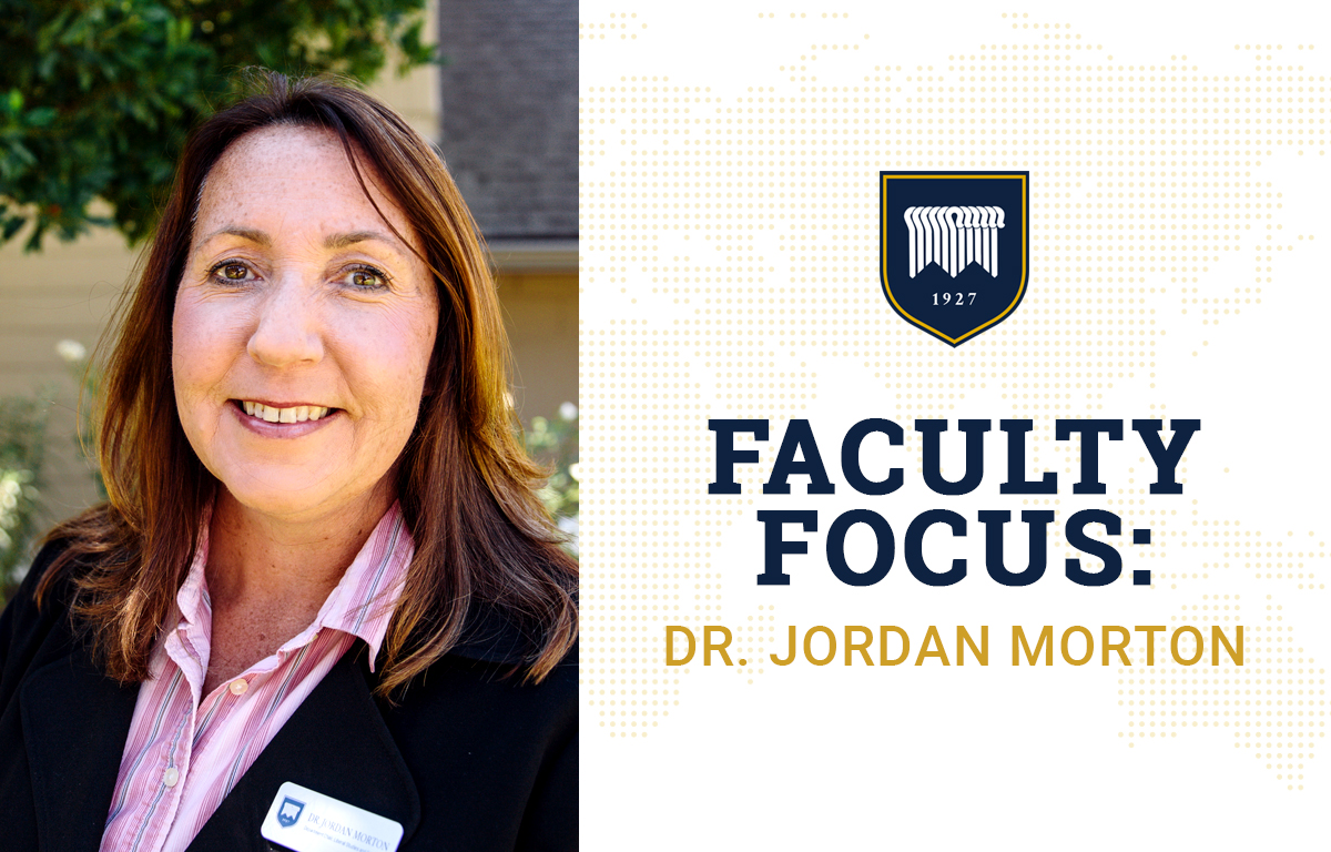 Faculty Focus: Dr. Jordan Morton image