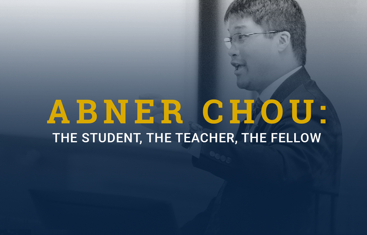 Dr. Abner Chou: the Student, the Teacher, the Fellow image