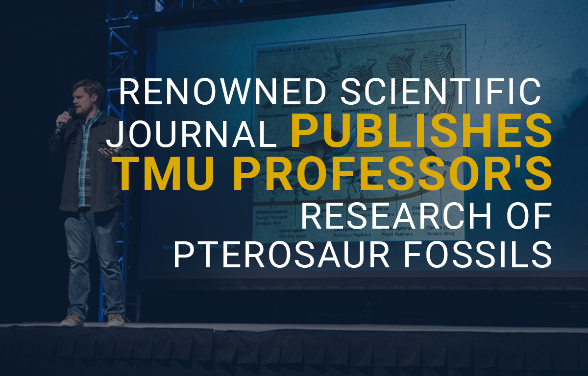 Renowned Scientific Journal Publishes TMU Professor's Research of Pterosaur Fossils image